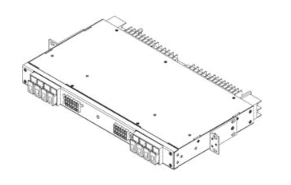 Fuse Panel: Dual, 4/20, TPA/GMT,260A, +/-24,-48VDC, Wht
