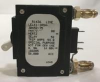 75 AMP CKT BREAKER BULLET WHITE HANDLE 3 PIN W/ STRAP (LELK1-1RS4-30452-75)