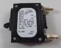 25 AMP CKT BREAKER BULLET BLACK HANDLE 3 PINS W/ STRAP (LELK1-1REC4-30326-25)