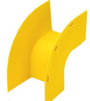 4X4 OUTSIDE VERTICAL RIGHT ANGLE FITTING YELLOW