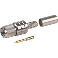 TC-200-SM-SS-X SMA Male Crimp/Solder Connector for LMR200. Stainless Steel Body.