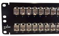 "JPM806A-R2 Equiv CAT5e 48-Port Patch Panel 2RU 19"" Shielded Feed Through"