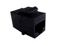 TXM KJCC6RJ45FUBK CAT6 RJ45 Keystone Inline Coupler  Female Unshielded Black