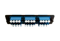 MLCQ-24-SM-C-BLK ADAPTER PANEL 6 QUAD LC SM CER BLACK 065-244-10