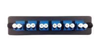 TXM MLC-12-SM-C-BLK Adapter Panel w/ 12 LC SM CER Black 10-9709