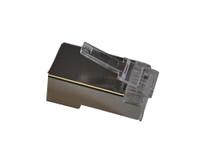TXM CAT6PLGS100 CAT6 RJ45 Shielded Plug 50 Micron Plating (100 Pack)