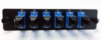 qual to 055-0000-6010 LCX 6 FIBER SCU SIMPLEX SM OS2 BLACK Fiber Adapter Plate (055-0000-6010-BLK)
