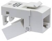 Platinum Tools 705WH-4C EZ-SnapJack Cat5e, White.  4/Clamshell.