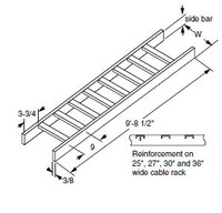 "0020033430 Cable Rack 2""x10""W Solid Side"