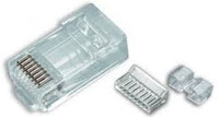 Platinum Tools 106178J RJ45 (8P8C) Cat6 HP, Round-Solid 3-Prong. 100/Jar.