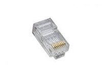 Platinum Tools 106167C RJ45 (8P8C) Cat5e HP, Round-Solid 3-Prong.  25/Clamshell.
