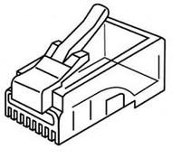 Platinum Tools 106147C RJ-45 (8P8C), Round-Stranded.  25/Clamshell.