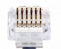 Platinum Tools 100026C EZ-RJ12/11 Connector.  50/Clamshell.