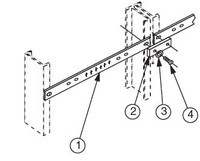 """0040280013 - GROUND BAR AND SPLICE FOR 19"""""""
