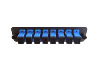 TXM FP-08P-SM-SCU-1B Single-Mode SCU Simplex Black Adapter Panel (8-Pack)