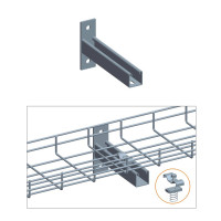 """T WALL HOLDER W/CLAMP SET, ZINC 4"""",6"""",8"""" or 12"""""""