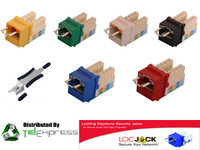 CAT5E LOCJACK HIGH-DENSITY LOCKING KEYSTONE JACKS