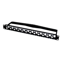 24 PORT UNLOADED HIGH DENSITY KEYSTONE PATCH PANEL