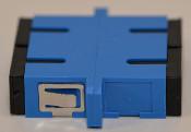 SC Duplex Blue Singlemode Coupler with flange