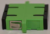 SC/APC Duplex Green Singlemode Coupler large flange