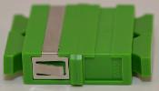 SC/APC Duplex Green Singlemode Coupler small flange