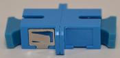 SC Simplex Blue Singlemode Coupler large flange