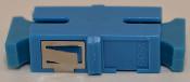 SC Simplex Blue Singlemode Coupler small flange