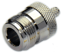 Type N Straight Female Connector for RG58/RG142/RG223/RG400/LMR195/LOW195 -  Crimp Connector with Solder Pin