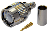 TNC Male Connector For RG8x/LMR240/LOW240 - Crimp Connector with Solder Pin