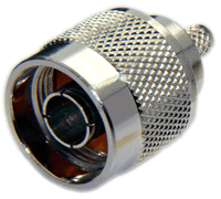 Type N Male Connector for RG58/RG142/RG223/RG400/LMR195/LOW195 -  Crimp Connector with Solder Pin