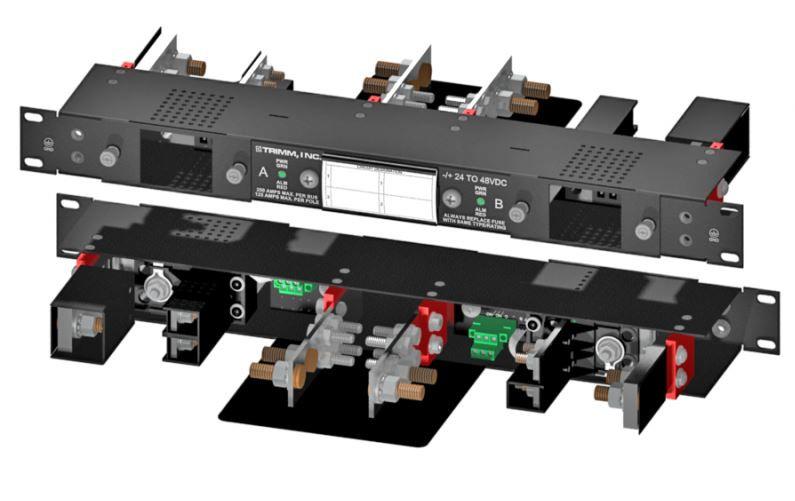 "Trimm 9076101501 Breaker Panel OV DC 2//2 125A Versa-Slot 19/"" 1RU New"
