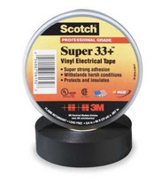 "33+ SUPER-3/4X66FT Electrical Tape Vinyl PVC Black 3/4""X66FT"