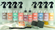 Leather Aniline Wax Pull-up Topcoat Refinishing - Kit-Aw6.tc