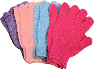 Daylee Naturals Exfoliating Bath Gloves 4 Pairs
