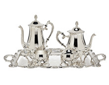 Silver Coffee Set with Tray