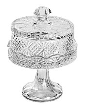 DUBLIN SMALL FOOTED CAKE PLATE WITH DOME