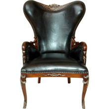 Dimensions: 32.5W X 30.5D X 44H Italian Leather Club Chair Item # AF- 11126872