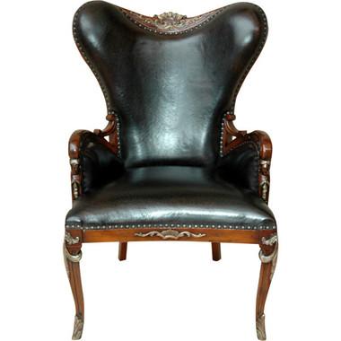 Dimensions: 32.5W X 30.5D X 44H Italian Leather Club Chair Item # AF- 11126872