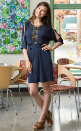 Split sleeve nursing dress