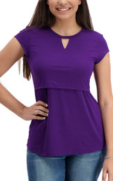 Triangle cut-out nursing top