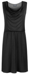 Sleeveless cowl neck nursing dress