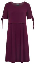 Swing nursing dress with grommets and ties