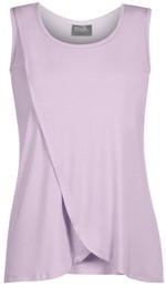 Sleeveless tulip top