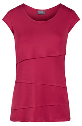 Asymmetrical short sleeve nursing top