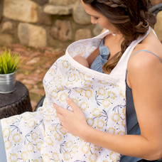 Sorrento print muslin nursing cover by Bebe au Lait