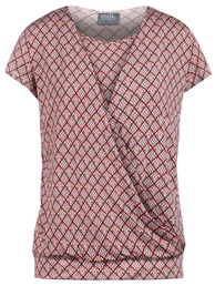 Banded hem crossover nursing top in diamond print