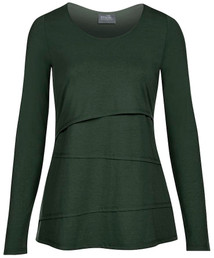 Asymmetrical nursing top in long sleeves