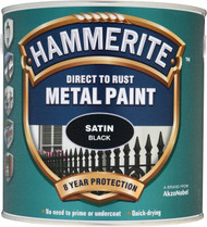 Black Hammerite, Satin Smooth Finish  - 250 ml
