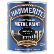 Black Hammerite, Smooth Finish  - 750 ml