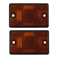 Amber Oblong Side Reflectors ,Screw Type - 77 mm x 46 mm